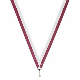 10 rubans pour médailles bicolore
