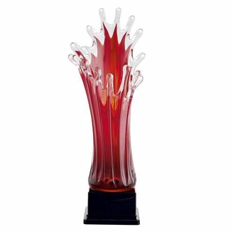 Trophée en verre soufflé rouge