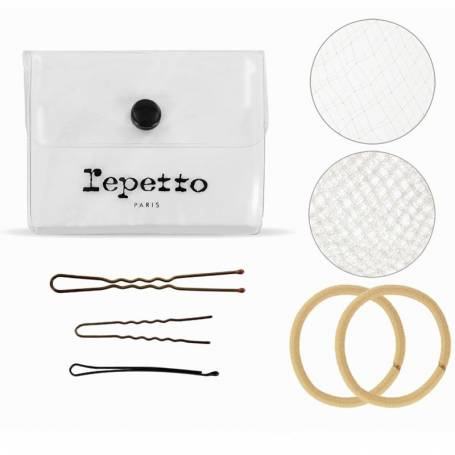 Kit cheveux blonds pour chignon de danse Repetto