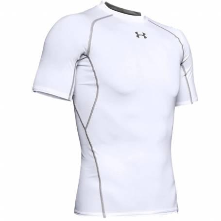 T-shirt Compression UA HeatGear Blanc