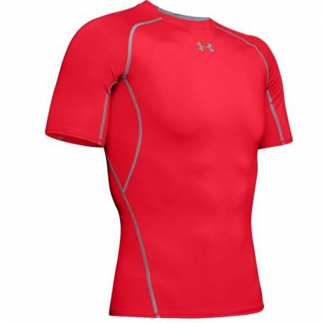 T-shirt Compression UA HeatGear Rouge