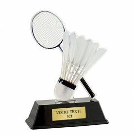 Trophée acrylique badminton