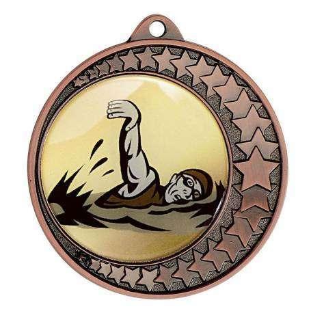 10 rubans pour médailles tricolore
