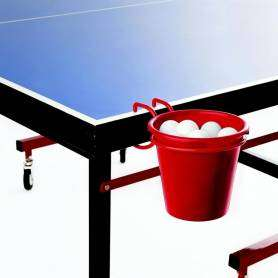 Seau avec support tennis de table