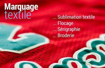 sublimation textile, flocage, sérigraphie, broderie